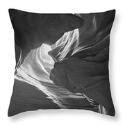 Old Woman In The Canyon Black And White Throw Pillow