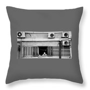 Old Woman In Window  Throw Pillow