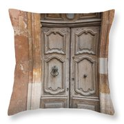 Old Wood Door - France Throw Pillow