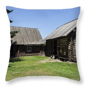 Old Wood House,russia Throw Pillow by Atul Daimari