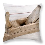Old Wood Planer Throw Pillow