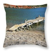 Old Wooden Dock Throw Pillow