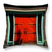 Old Wooden Doors Throw Pillow