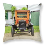 Old Woodie Model T Ford  Throw Pillow