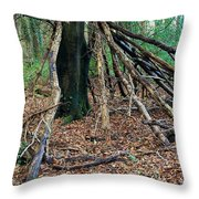 Old Woodland Hide. Throw Pillow