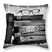 Old World Books Throw Pillow