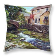 Old World Cottage Throw Pillow