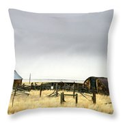 Old Wyoming Farm Throw Pillow