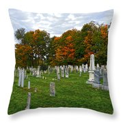 Old Yard Cemetery Stowe Vermont Throw Pillow