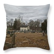 Old Yellow Meeting House Throw Pillow