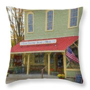 Olde Country Store Throw Pillow