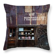 Olde Tyme Throw Pillow