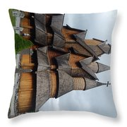 Oldest Church In Norway Throw Pillow