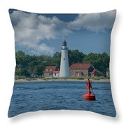 Oldest Lighthouse In Michigan Throw Pillow