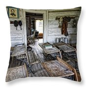Oldest School House C. 1863 - Montana Territory Throw Pillow