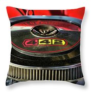 Olds 442 Air Cleaner Throw Pillow