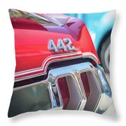 Olds 442 Classic Car Throw Pillow