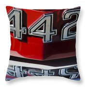 Oldsmobile 442 Muscle Car Emblem Throw Pillow