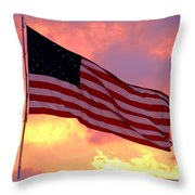 Ole Glory Throw Pillow