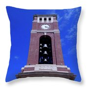 Ole Miss Bell Tower Throw Pillow