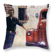Ole Red And The Master Mechanic Throw Pillow