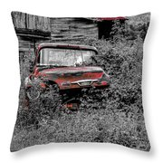 Ole Red Throw Pillow