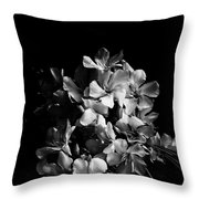 Oleander Flowers In Black And White 2 Throw Pillow