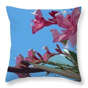 Oleander Flowers Wilting In The Brutal Florida Sun    Throw Pillow