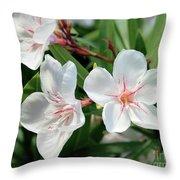 Oleander Harriet Newding 3 Throw Pillow