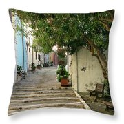 Oleander Steps Throw Pillow