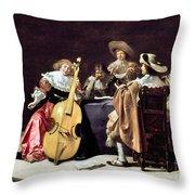 Olis: A Musical Party Throw Pillow