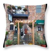 Olive Affairs Restaurant Throw Pillow