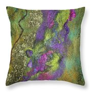 Olive Garden With Lavender Throw Pillow