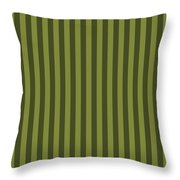 Olive Green Striped Pattern Design Throw Pillow