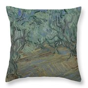 Olive Grove Saint Remy De Provence  June 1889 Vincent Van Gogh 1853  1890 Throw Pillow