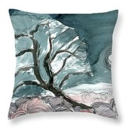 Olive Solstice Throw Pillow