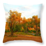 Olive Tree Forest Throw Pillow