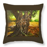 Olive Tree Rooted 1 Throw Pillow