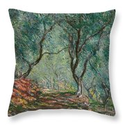 Olive Trees In The Moreno Garden Throw Pillow