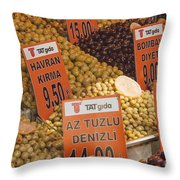 Olive Variety Throw Pillow