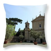 Olive Wood Trees Throw Pillow