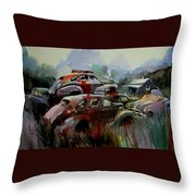 Oliver Stacks Throw Pillow
