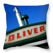 Oliver Tractor Nameplate Throw Pillow