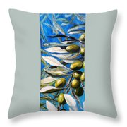 Olives Extract Throw Pillow