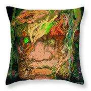 Olmec Man Throw Pillow
