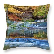 Olmsted Waterfalls Throw Pillow