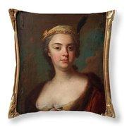 Olof Arenius, Ulrika Eleonora Ribbing Af Zernava 1723-1787 Throw Pillow