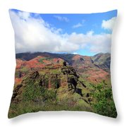 Olokele Canyon From Robinson Ranch Throw Pillow