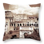 Colosseum From Roman Forums  Throw Pillow