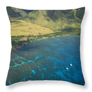 Olowalu Aerial Throw Pillow